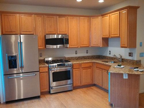 Kitchen Cabinets Oak To Black