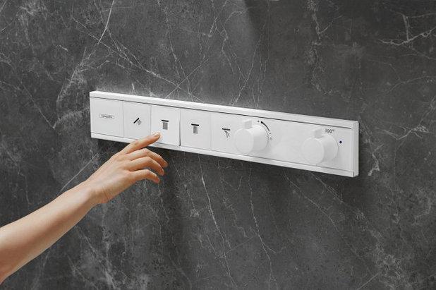 Bathroom Rainfinity shower control by Hansgrohe