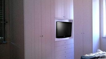 Armadio camera da letto angolare
