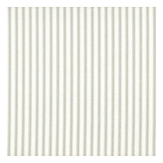 "French Country Ticking Stripe Pebble Shower Curtain Cotton, Taupe, 84"", Unlined"