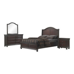 American Woodcrafters Hyde Park Bedroom Set With King Bed