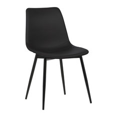 Armen Living - Monte Contemporary Dining Chair, Black - Dining Chairs