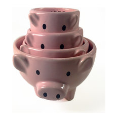 Stackable Pig Measuring Cups, Set of 4