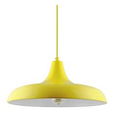 Sunlite Yellow Nova Ceiling Pendant Light Fixtures W/ Medium-E26 Base