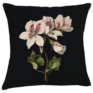 Velvet Tableau Cushion, Geraniums
