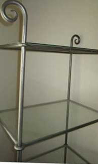Shelving- Metal and Glass