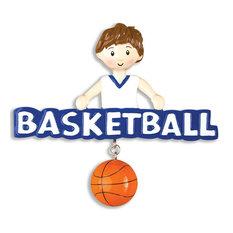 Personalizable Sports Ornament, Basketball Boy