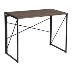 Folding Table Desk With Solid Metal Frame With MDF Top, Perfect for Space Saving