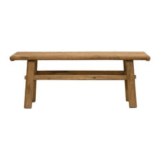 Rectangular Coffee Table Reclaimed Elm Wood In Natural Finish Rustic Design
