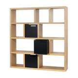 Berlin 4 Level Display Unit, Oak, Wide