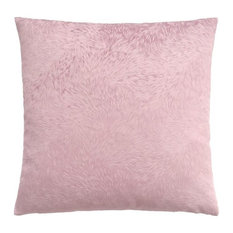 "Pillow, 18""x18"", Light Pink Feathered Velvet"