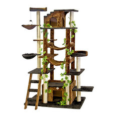 Beau Residence   Mowgli Cat Tree, Black And Brown   Cat Furniture