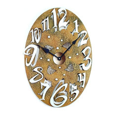 Small Oval Stone Wall Clock