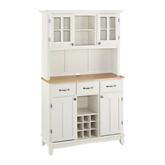 home styles furniture buffet of buffet with wood top and hutch white china