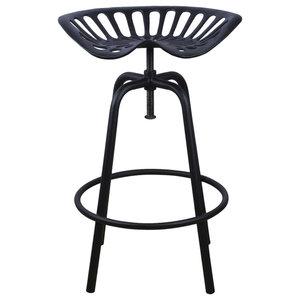 Esschert Design Tractor Seat Stool, Black