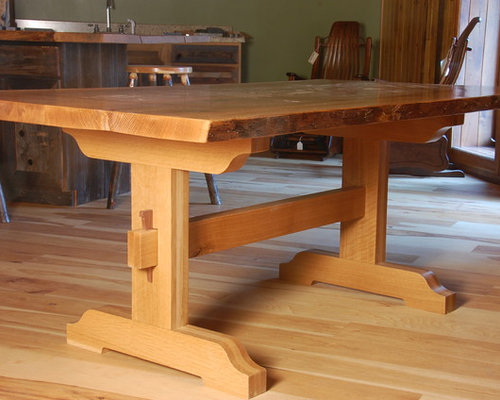 Live Edge Dining Tables With Trestle Base   Dining Tables