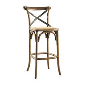 Parisian Bar Stool With Steel Accent
