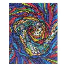 "Vortex, Abstract Original Drawing, 11""x14"""