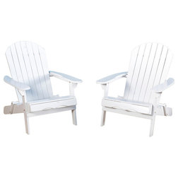 Beach Style Adirondack Chairs by GDFStudio