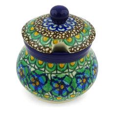 Polmedia Polish Pottery 5 oz. Stoneware Sugar Bowl