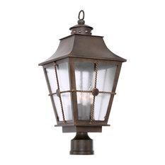 "Belle Grove 11x24"" 4-Light Rustic Lodge Pier Lamps by Kalco"