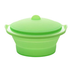 Lekue Collapsible Steamer Green, 2.5 Qt