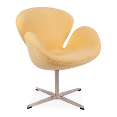 Vertigo Interiors Midcentury Style Swan Retro Lounge Chair Yellow Wool  ArmchairsRetro Occasional Chairs Nz Creditrestore Us