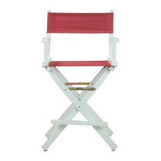 """24"""" Director's Chair With White Frame, Burgundy Canvas"""