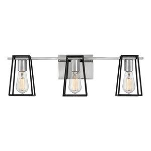 Hinkley Filmore 3-Light Vanity, Chrome
