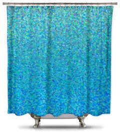 Catherine Holcombe Blue Raspberry Fabric Shower Curtain More Info