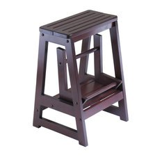 Winsome - Winsome-Folding Step Stool Walnut Solid Composite Wood - Ladders and  sc 1 st  Houzz : folding kitchen step stool - islam-shia.org
