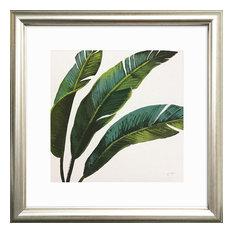 Evergreen Banana Leaves Framed Art Print, 31 x 31 cm