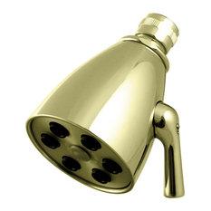 Westbrass 6-Jet Adjustable Shower Head, Polished Brass