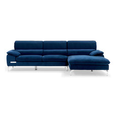 zuri furniture sapphire right chaise sectional blue sectional sofas