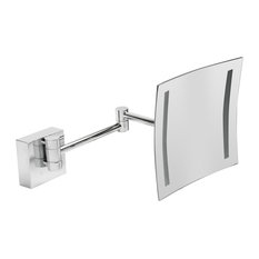 """ALFI Polished Wall Mount 8"""" 5x Magnifying Mirror With Light"""