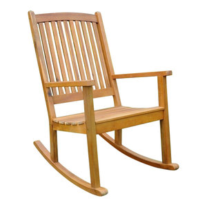 Groovy Unfinished Cypress Porch Rocking Chair Transitional Machost Co Dining Chair Design Ideas Machostcouk
