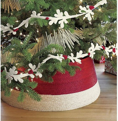 Contemporary Christmas Tree Skirts By Crate Barrel
