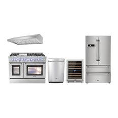 "48"" Pro-Style Gas Range Thor Kitchen 5-Piece PKG, Natural Gas"