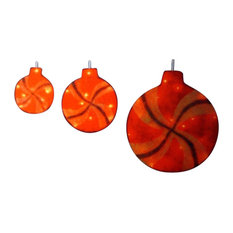 Peppermint Twist Lighted Red Glitter Sisal Christmas Window Decorations, 3-Piece