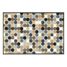 Mikado Dots Door Mat, Natural, 75x50 cm