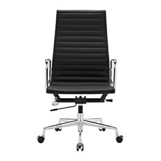 Ariane Office Chair, Black Standard Leather
