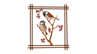 Chickadees and Berries Wall Art