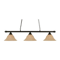 Toltec Oxford Island Light In Matte Black, Italian Marble Glass