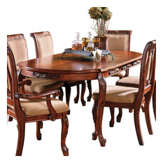 steve silver company steve silver harmony oval dining table in cherry dining tables