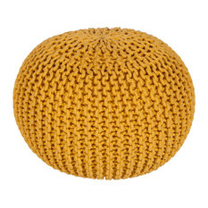 Malmo Sphere Pouf, Yellow