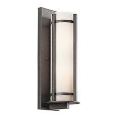 Kichler Energy Efficient Camden Anvil Iron 2 Light LED Outdoor Wall Lantern