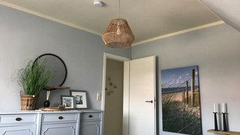 Farbkonzept und Interieur eines Einfamilienhauses