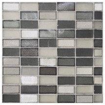 Gray Rectangle Glass Mosaic - Tile