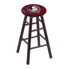 Maple Counter Stool Dark Cherry Finish With Florida State Head Seat 24-inch