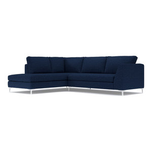 Mulholland 2-Piece Sectional, Navy, Chaise on Left